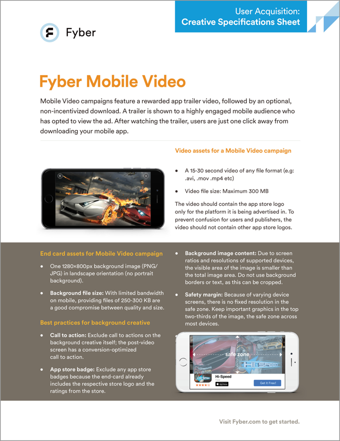 Creative Specs for Mobile Video Advertising Campaigns