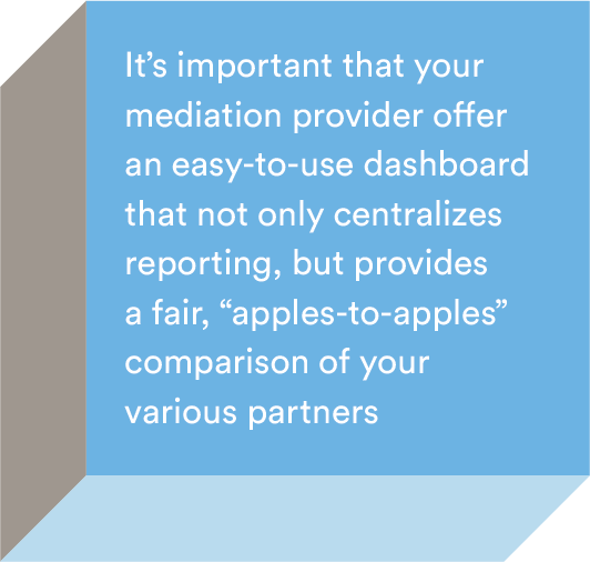 What is ad mediation and why is it important to choose a partner that serves the highest paying ad across ad network mediation partners?
