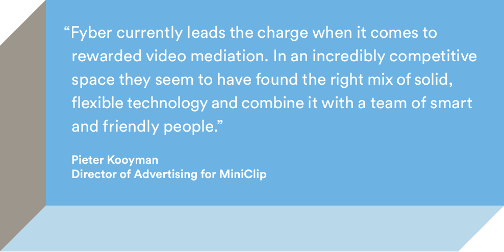miniclip fyber pre-caching video ad mediation