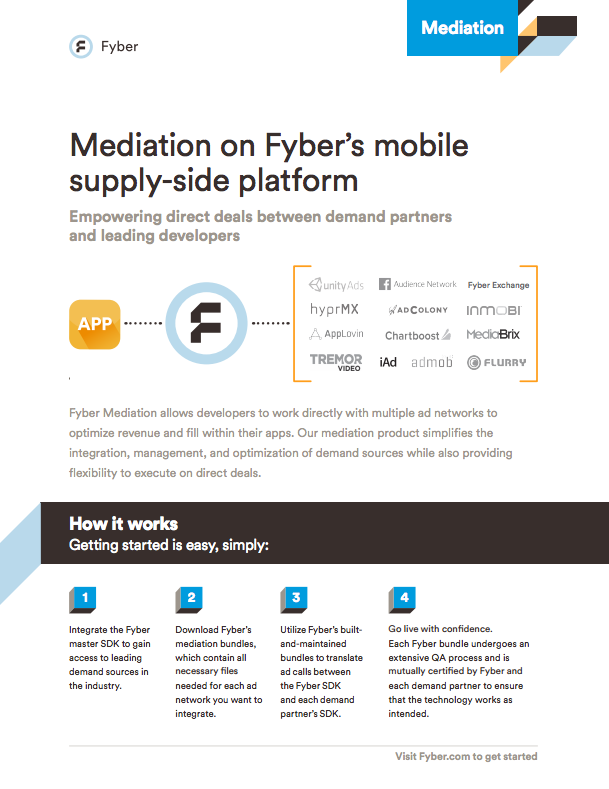 Ad network mediation platform one pager