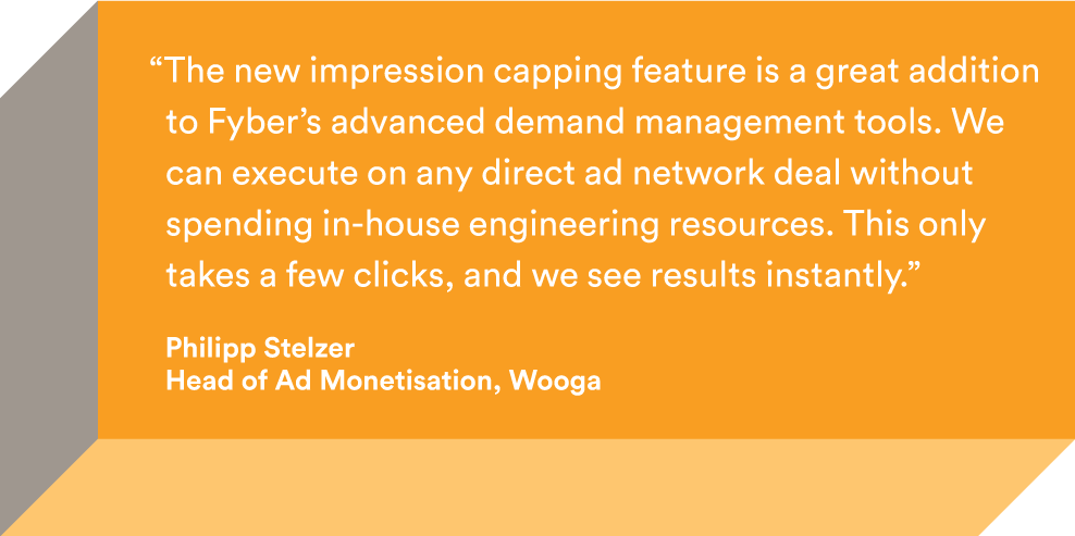 Wooga quote for ad network management tools