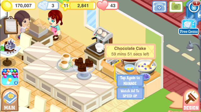 Rewarded video in Bakery Story