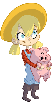 Futureplay Games Farm Away girl character art