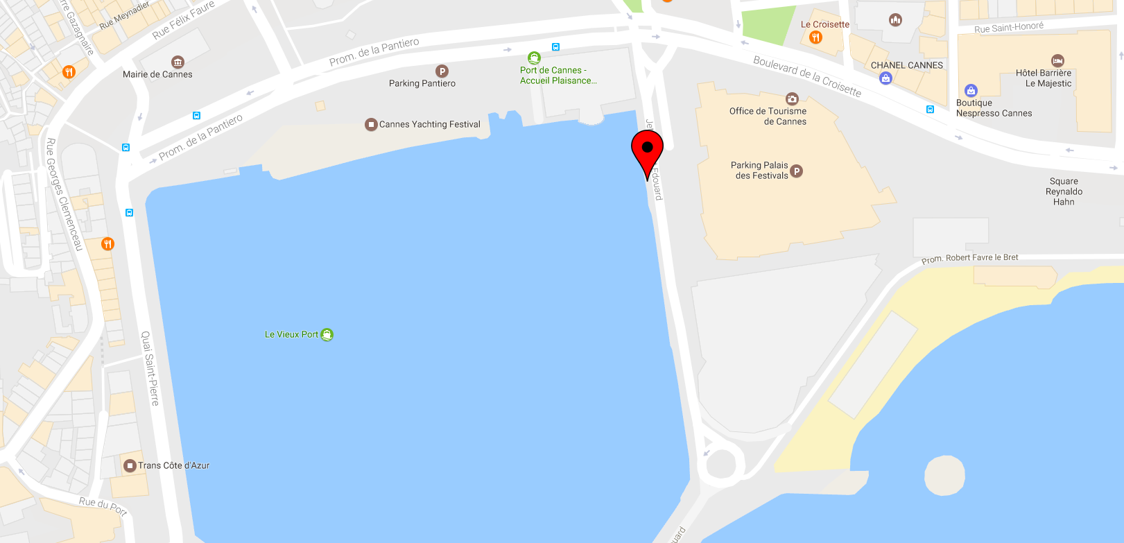 Google Maps Fyber Inneractive Cannes Lions 2017 yacht location