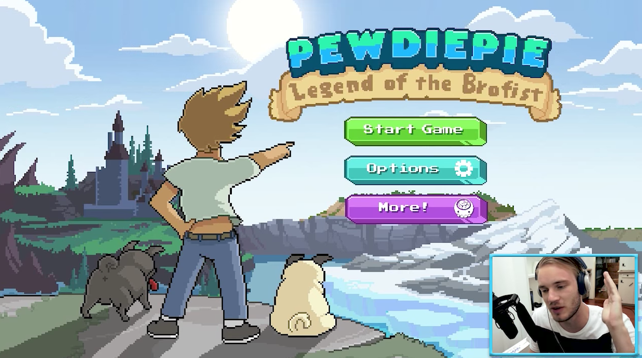 PewDiePie Legend of the Brofist mobile game YouTube video