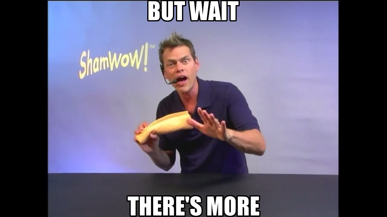 ShamWow guy but wait there's more Vince Offer