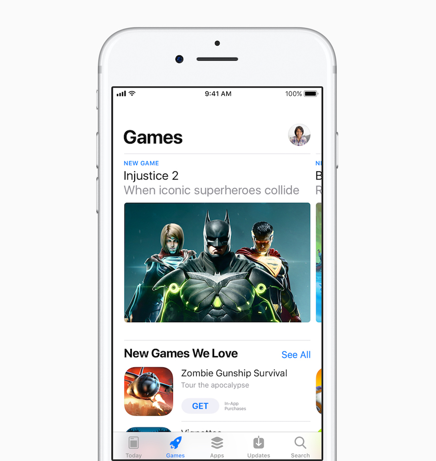 Apple redesigned App Store iOS 11 games
