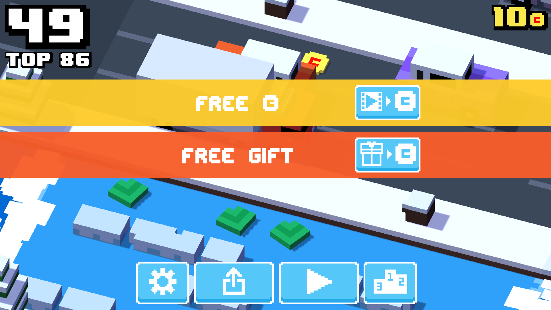 Crossy Road rewarded video ad integration