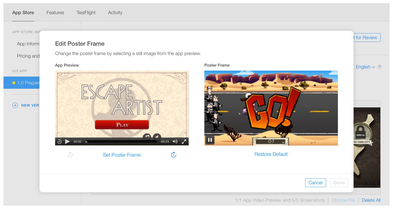 Apple App Store app preview video creative