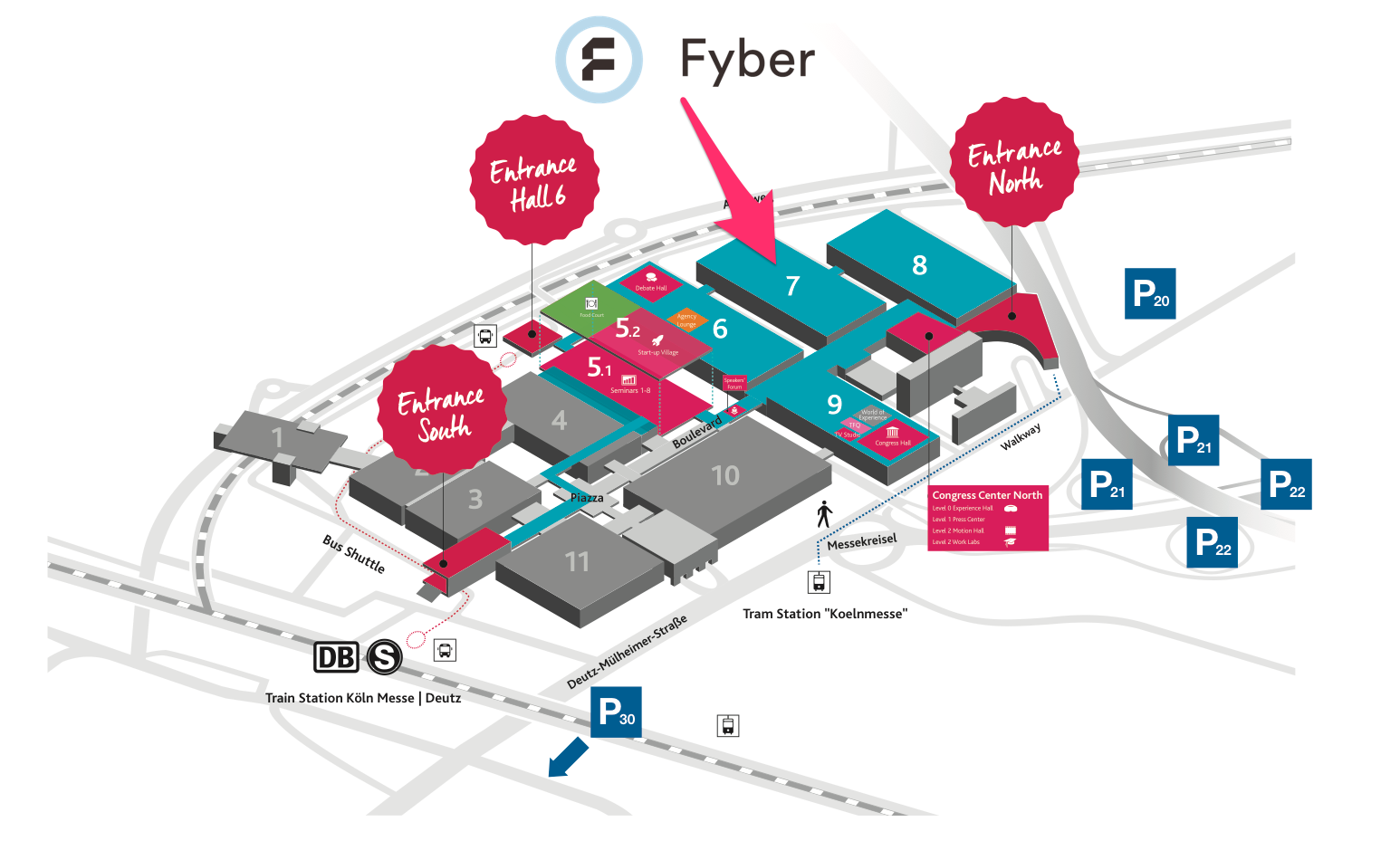 Dmexco 2017 site plan Fyber booth location