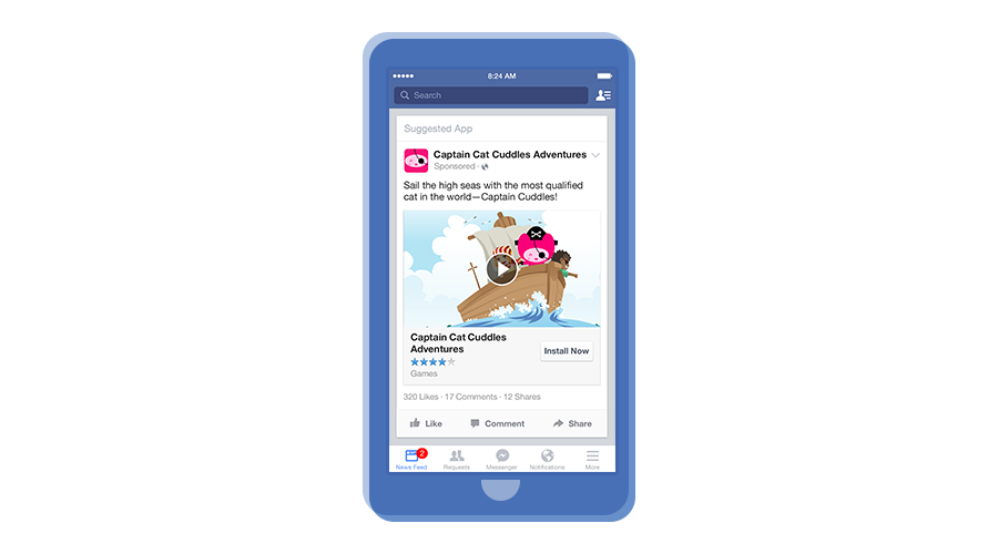 Facebook mobile app install ads