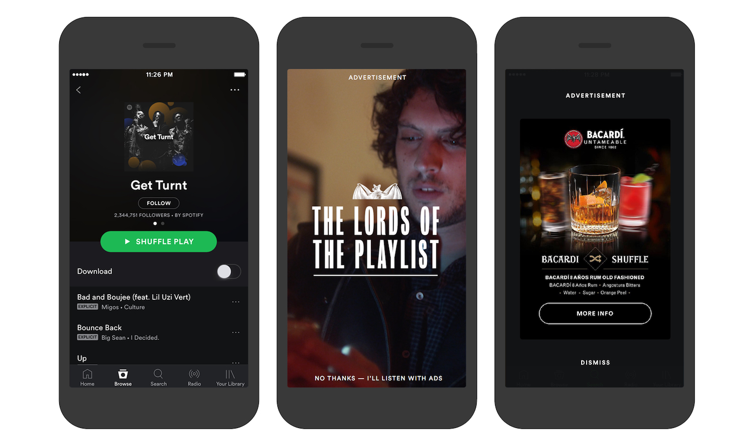 Spotify Branded Moments opt out rewarded vertical video ads