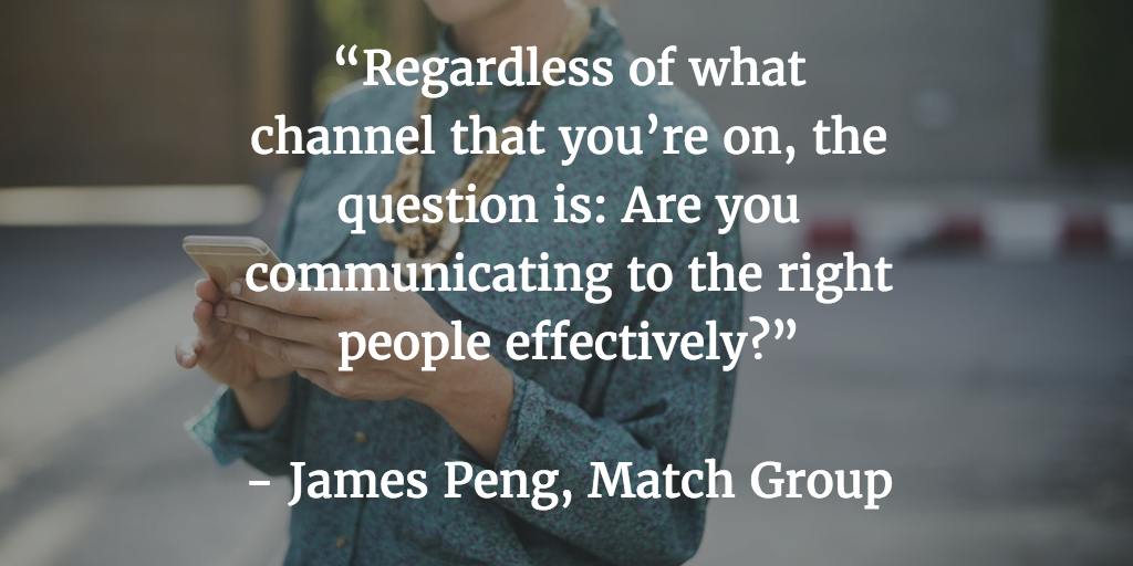 Match Group James Peng Fyber blog quote user acquisition
