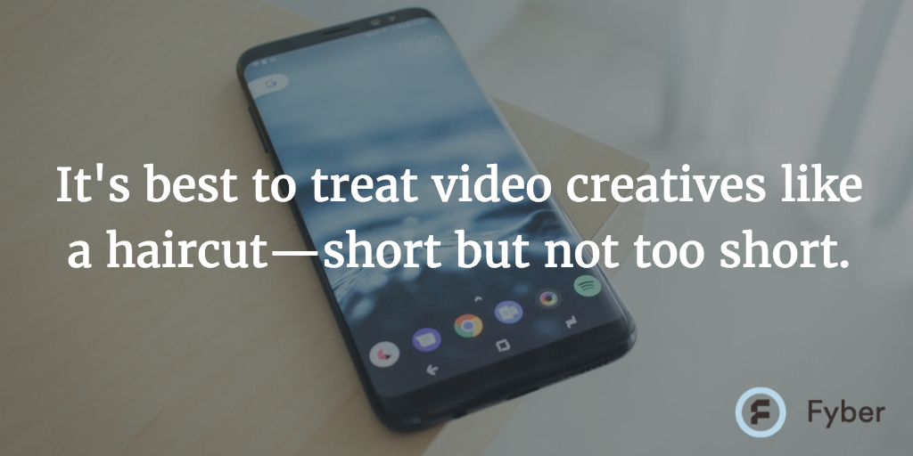 Mobile video ad creative short length