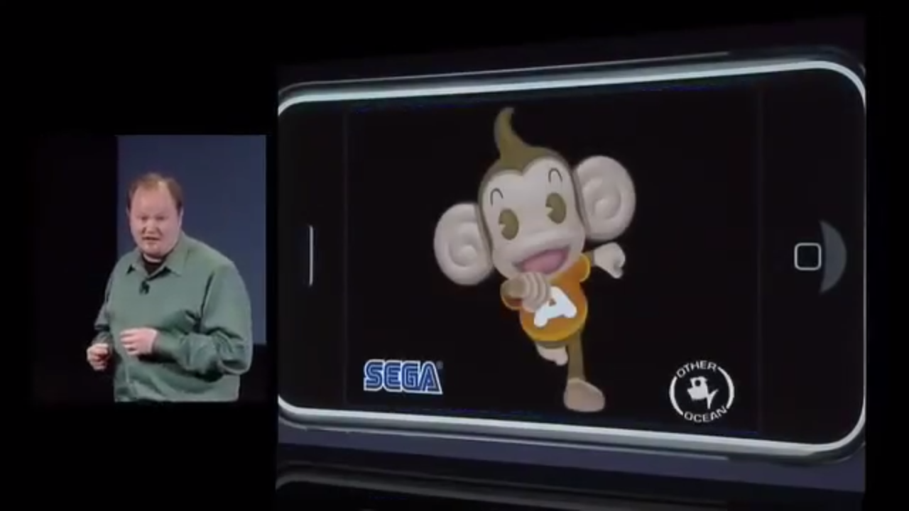 SEGA Ethan Einhorn Super Monkey Ball Apple iPhone SDK reveal event 2008