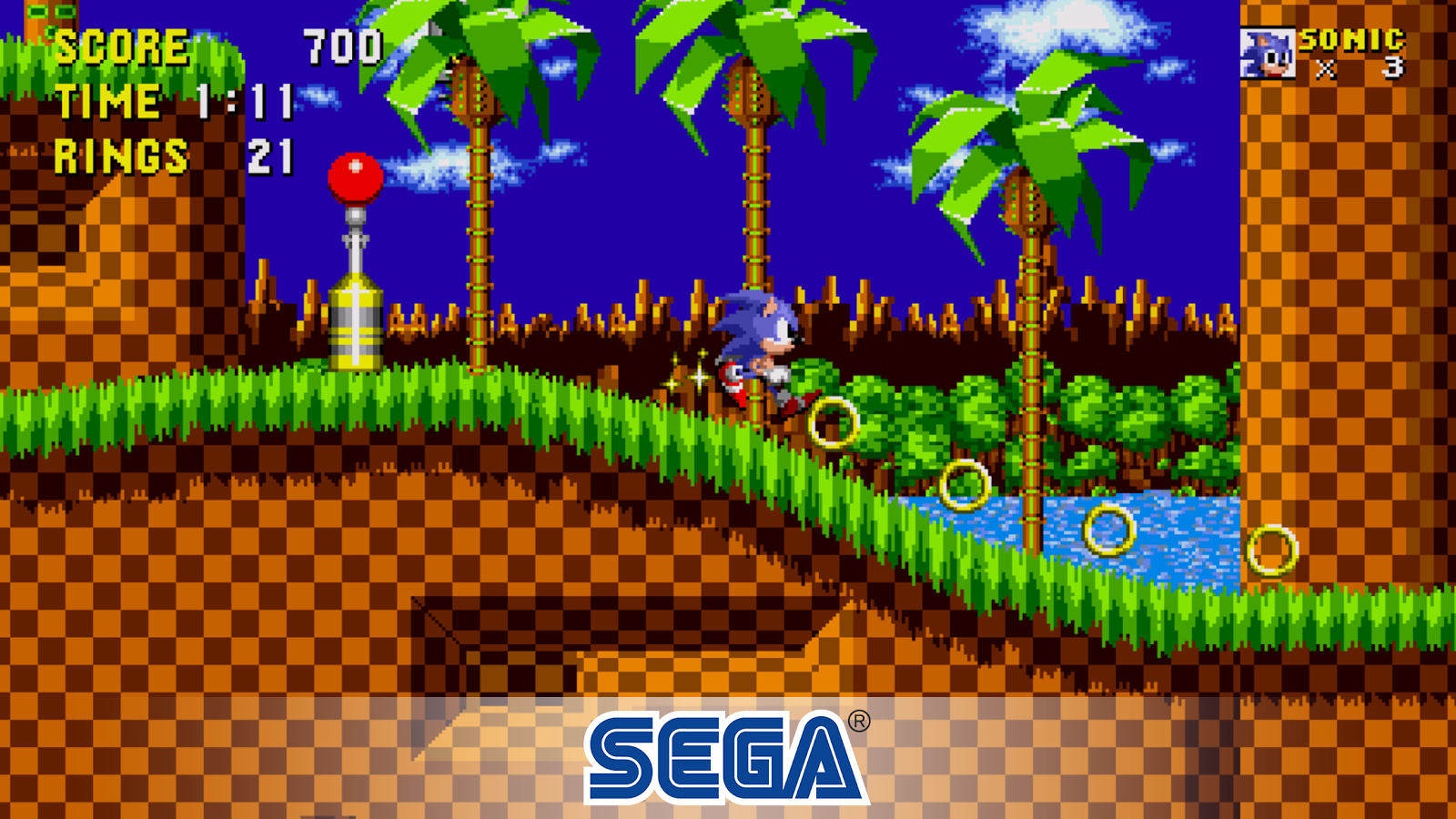 Sonic 1 SEGA Forever mobile game screenshot