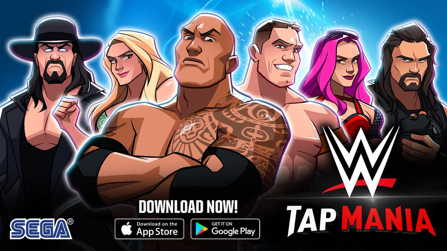 WWE Tap Mania SEGA idle mobile game