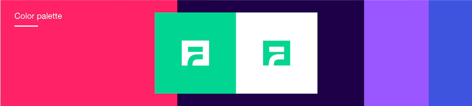 New Fyber logo color palette