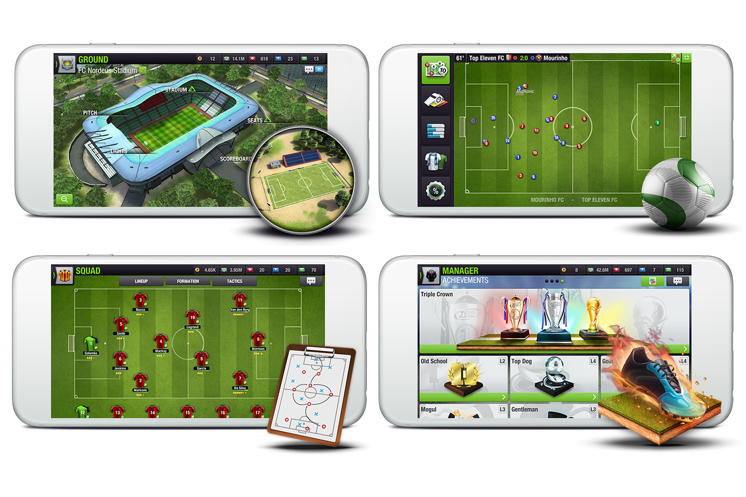 Nordeus Top Eleven gameplay