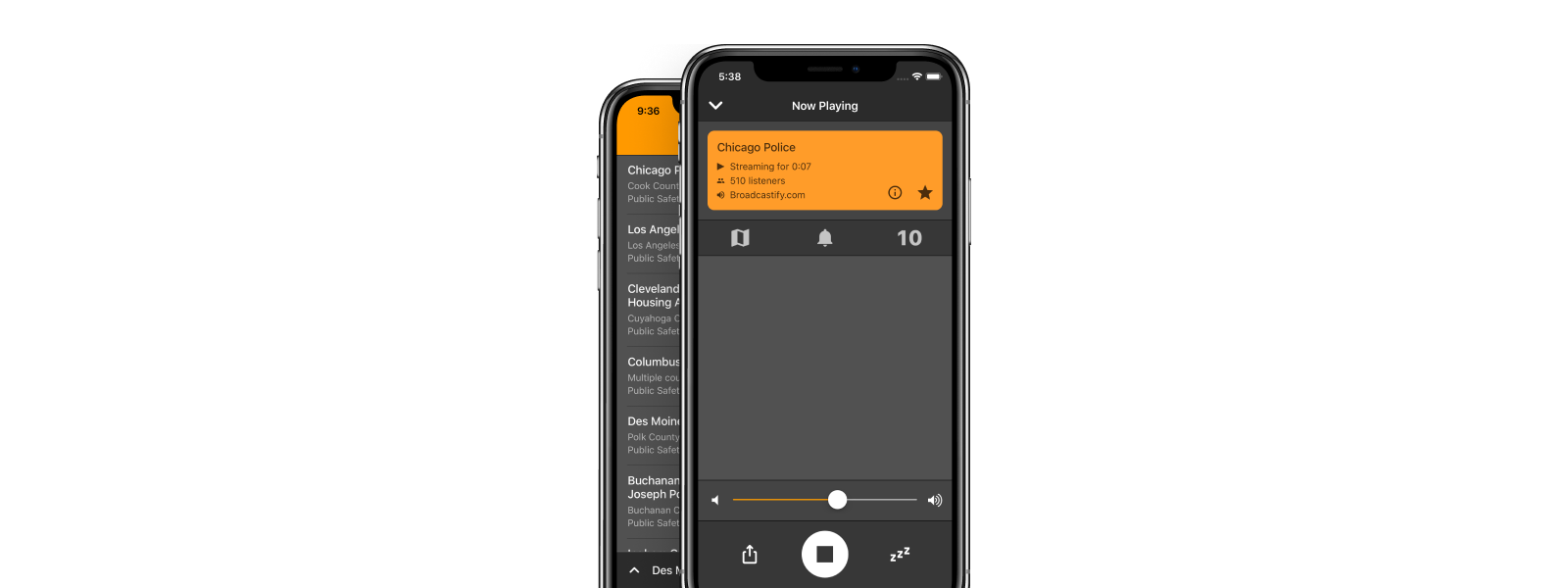 Scanner Radio mobile app